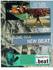 PUBLICITE ADVERTISING 2000    SWATCH  montres BEAT