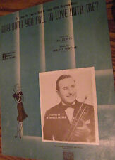 SHEET MUSIC  WHY DON'T YOU FALL IN LOVE WITH ME ? BY AL LEWIS AND MABEL WAYNE