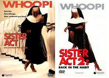 Sister Act 1 + 2 - Whoopi Goldberg - DVD - *NEU*