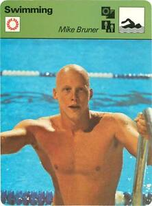 MIKE BRUNER - Swimming 1979 SPORTSCASTER Card #84-01 HIgh #