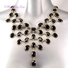 Deco Vintage Artisan Black Gold pltd Hollywood Alfombra Roja Babero Collar de Declaración