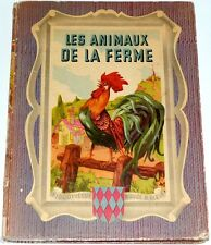 Les ANIMAUX de la FERME 1949 EO Sabran Dupuich bibliothèque ROUGE et BLEUE gp