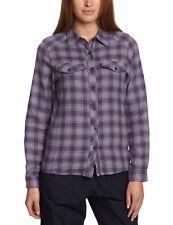 Ladies Craghoppers Dark Slate Combo Howley Long Sleeve Shirt Size UK 8