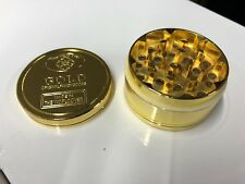 GOLD GRINDER 3 PART HERB CRUSHER MAGNETIC METAL ROLLING CATCHER UK GOLD BAR
