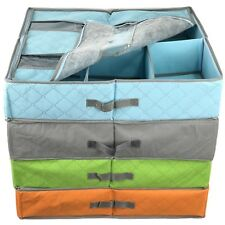 4 Underbed Storage Boxes Shoe Tidy Organiser Clothes Folding Fabric Box Foldable