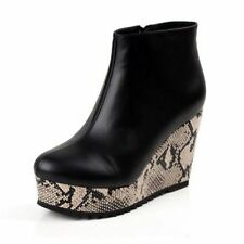 Wedge Animal Print Standard Width (B) Boots for Women