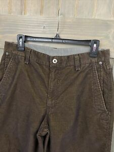 The North Face Mens Thin Corduroy Brown Pants  Cargo Pockets 31 x 30 (8 Pockets)