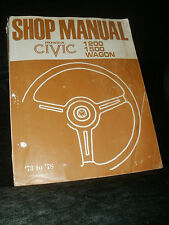 HONDA CIVIC 1200 1500 & WAGON FACTORY WORKSHOP MANUAL