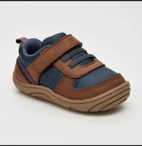 Infant Toddler Boy's Surprize Stride Rite Killian Brown Sneakers Shoes Size 4