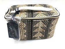 Brand New! Estee Lauder Straw Maldives Tan Train Cosmetic Makeup Bag