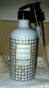 Beekman 1802 Goat Milk HAND & BODY WASH Ltd Ed LAVENDER w/Pump *NEW & SEALED*