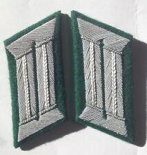 WW2 GERMAN ARMY OFFICER COLLAR TABS INFANTRY pair