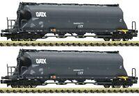 """Fleischmann N 849005 Staubsilowagen-Set """"Uacs-x"""" der GATX - NEU + OVP"""