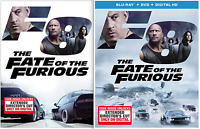 The Fate of the Furious F8 (DVD or Blu-ray) • NEW • Vin Diesel