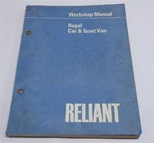 Werkstatthandbuch / Workshop Manual Reliant Regal Car and 5cwt Van ab 1970