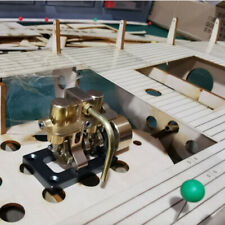 Mini Inline Double-cylinder Swing Steam Engine Models for 40cm Retro Boat Models