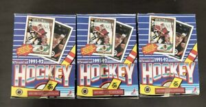 Lot of 3 1991-92 OPC O-Pee-Chee Hockey Boxes Series Guaranteed Clean unsearched