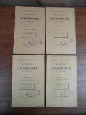 4 brochures D'HULST Conferences de Notre-Dame CAREME 1894 MORALE de la FAMILLE