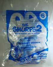 2013 McDonald's Happy Meal Kids Toy The Smurfs 2 Grouchy Smurf Toy # 6 Peyo