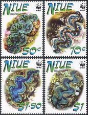 Niue 2002 WWF/Giant Clams/Marine Animals/Nature/Conserrvation 4v set  (s2566)