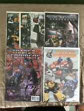 Lot of 6 Misc Transformers Comics VF Very Fine