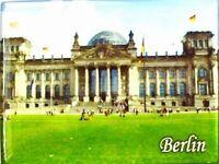 Imán Berlín Alemania Reichstag, 8 cm, Recuerdo Germany