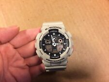 Nice Casio G-Shock Watch GA-100SD Works Well Great Condition Tan