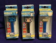Funko Pez! Marvel: Beast, Cable, Logan! Limited Edition! Candy & Dispenser