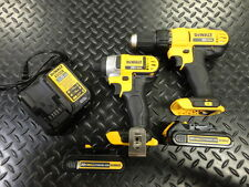 DeWalt 20v Drill/Driver Combo Kit DCF885 DCD771 w/ Charger & 2 Batteries