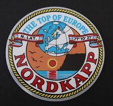 Souvenir-Aufkleber Nordkapp The Top of Europe Mittsommer Nordkap Norge Norwegen