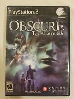 Obscure: The Aftermath (Sony PlayStation 2, 2008) PS2 Complete rare FREE S/H