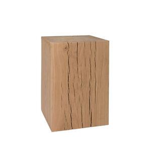 Holzklotz Hocker Eiche unbehandelt Dekosäule Holzblock Beistelltisch Holzsäule