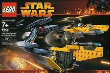 LEGO Star Wars Jedi Starfighter & VULTURE DROID #7256 Anakin R2-D2 100% COMPLETO