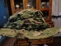 NWT NWU Type III Navy Seal AOR2 Digital Woodland Boonie Hat SUN COVER X LARGE