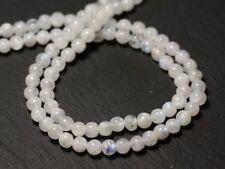 Fil 32cm 90pc env - Perles de Pierre - Pierre de Lune blanche Arc en ciel Boules