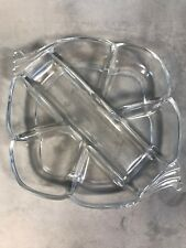 PV02463 Clear Heisey #1401 EMPRESS 7-Part Hors D'Oeuvre Tray