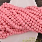 New 50pcs 6mm Round Glass Loose Spacer Beads Jewelry Findings Light Red