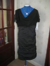 STUNNING LITTLE BLACK EVENING /PARTY DRESS by JOSEPH RIBKOFF SZ 16 BNWT £300