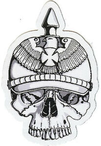 Prussian Skull cutout patch Death War Brandenburg Berlin Duchy Konigsberg Poland
