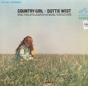 """DOTTIE WEST HAND SIGNED AUTOGRAPH LP ALBUM """"COUNTRY GIRL"""""""