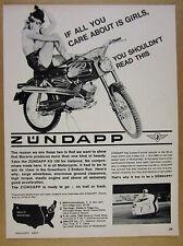 1967 Zundapp KS100 KS-100 motorcycle photo vintage print Ad
