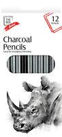 12 X Charbon Crayon Set Artiste Mélange École Artisanat Art Croquis Dessin