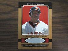 2001 Upper Deck Legends Barry Bonds Jersey Card (B101) San Francisco Giants
