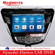 "7"" Car DVD GPS Navigation Head Unit Stereo Radio For Hyundai Elantra 2014"