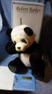 Robert Raikes Panda Bear Sichuan 11 Inch Sitting Box  COA Gently Used to Unused