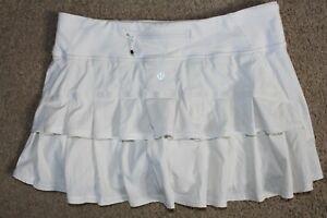 Womens Sz 8 Lululemon Pace Setter Lined w/ Shorts Skirt Skort Tennis Running Run