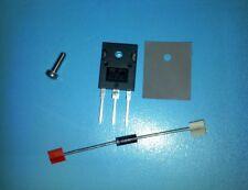 1x Reparatur Saeco Brühgruppe blockiert TIP33C BD245C 25A 33V BZX85V033 1,3W 5W