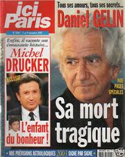 ici Paris n°2996  mort de daniel gelin  michel drucker