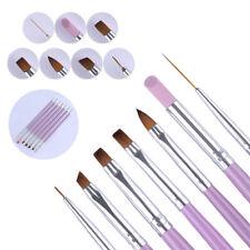 7Pcs Acrylic Nail Art Pen Tips UV Builder Gel Painting Brush Manicure Set Hot