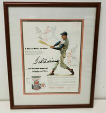 Ted Williams Boston Red Sox Autographed & Framed 11x14 Texaco Advertisement